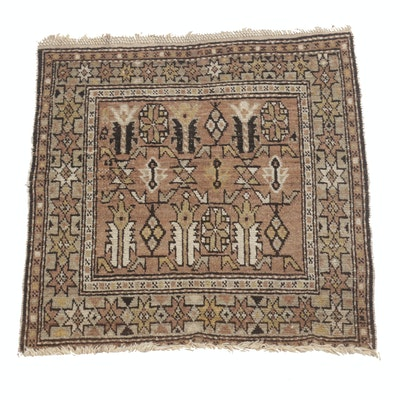 Hand-Knotted Persian Baluch Accent Rug