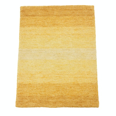 2'2 x 3'0 Hand-Knotted Indian Mid Century Modern Style Rug