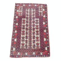2'10 x 4'10 Hand-Knotted Persian Baluch Rug, circa 1930
