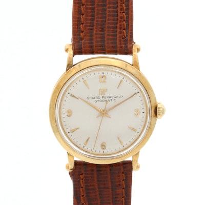 Vintage Girard-Perregaux Gyromatic 14K Gold Wristwatch