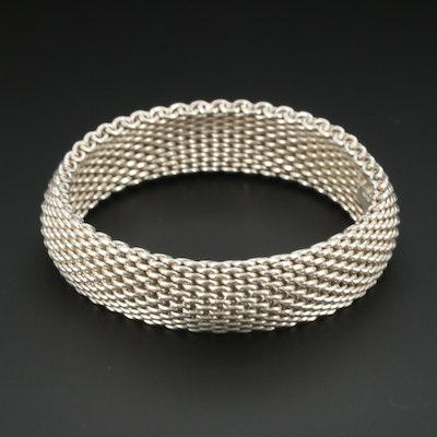 "Tiffany & Co Sterling Silver ""Somerset"" Bracelet Including Box"
