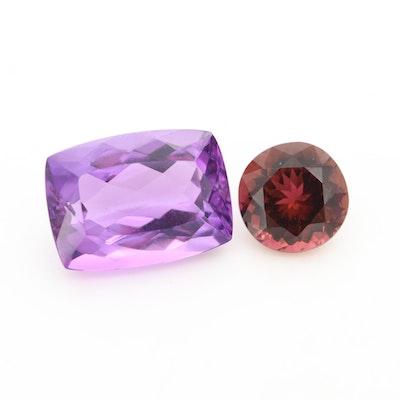 Loose 9.00 CTW Amethyst and Garnet Gemstones