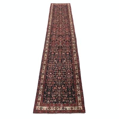 3'6 x 17'4 Hand-Knotted Persian Zanjan Long Rug, circa 1940