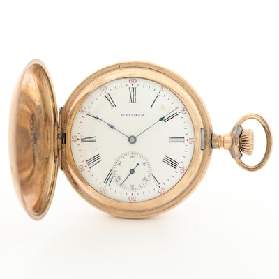 Antique Waltham Gold Filled Hunter Case Pocket Watch, 1907
