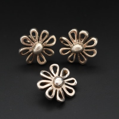 Paloma Picasso for Tiffany & Co. Sterling Silver Daisy Earrings and Pendant