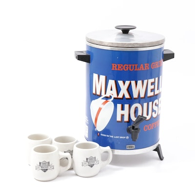 Maxwell House Coffee Maker & White Castle Mugs, Vintage Advertising
