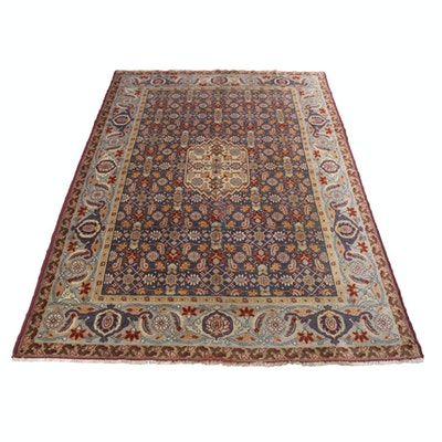 8'2 x 11'7 Hand-Knotted Turkish Oushak Rug, circa 1920