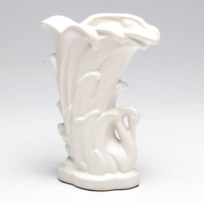"""McCoy """"Swan"""" Ceramic Vase"""
