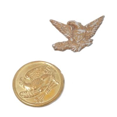 U.S. Eagle Civil War Union Breast Plate & Emblem Medallion, Circa 1860's