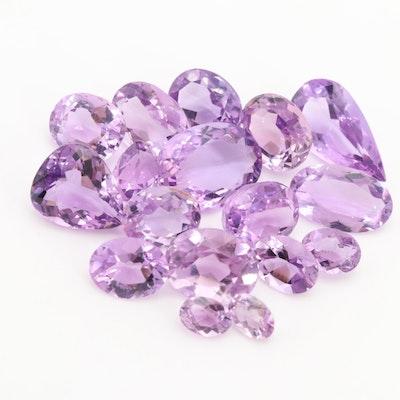 Loose 39.30 CTW Amethyst Gemstones