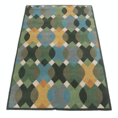 5'1 x 8'0 Hand-Tufted Mid Century Modern Style Rug