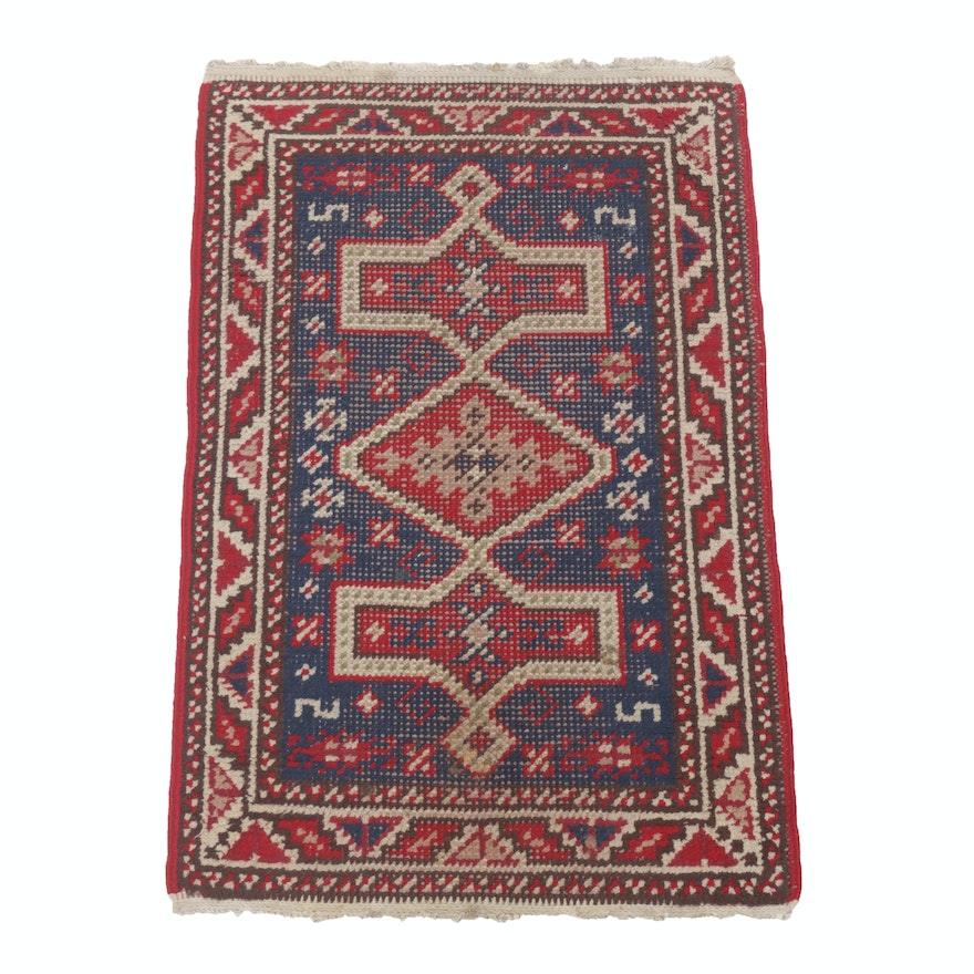 2' x 3'2 Hand-Knotted Turkish Oushak Rug, Circa 1920s
