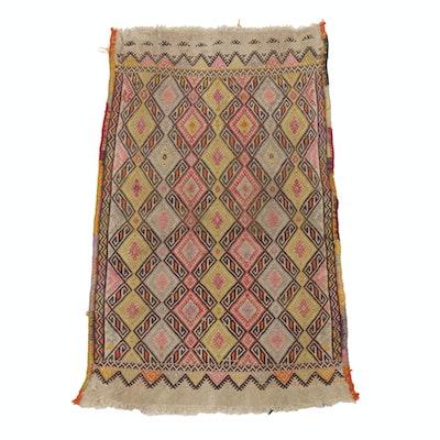 1'6 x 2'7 Handwoven Caucasian Soumak Rug, Circa 1900