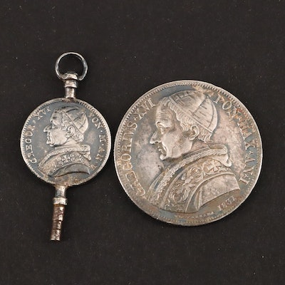 Two Papal State, Italian Silver Coins