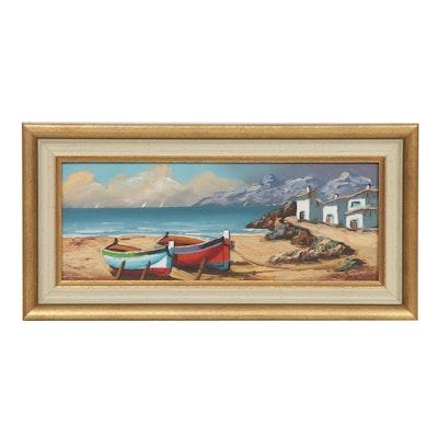 European Coastal Oil Painting
