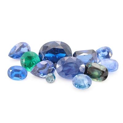 Loose 5.20 CTW Gemstone Assortment Including Blue Sapphire and Diamond