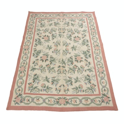 6'1 x 8'9 Hand-Knotted Sino French Needle Point Rug