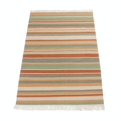 3'11 x 6'4 Handwoven Indo-Turkish Kilim Rug