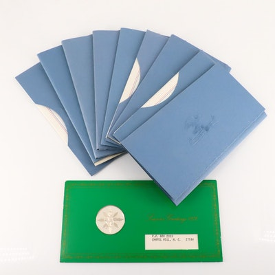 """Ten """"Postmasters of America Medallic First Day Covers"""" Franklin Mint, 1970s"""