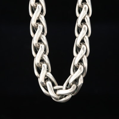 David Yurman Sterling Silver Necklace with 14K Yellow Gold Accents