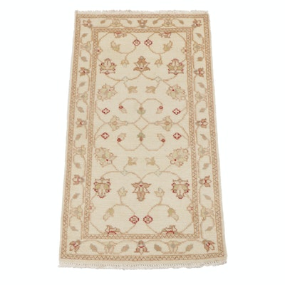2'4 x 4'5 Hand-Knotted Indo-Turkish Oushak Rug