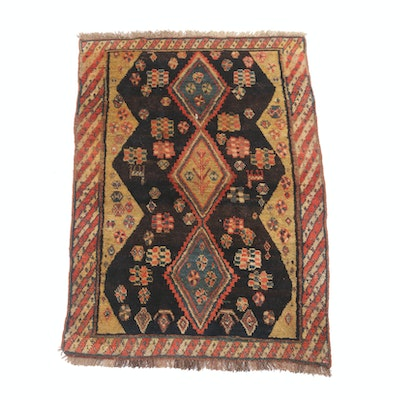 2'11 x 4'6 Hand-Knotted Antique Kurdish Caucasian Rug, circa 1920s