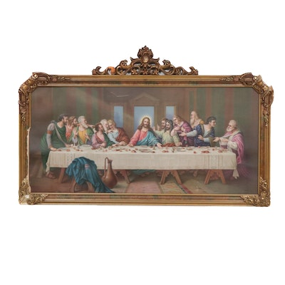"Chromolithograph after Leonardo da Vinci ""The Last Supper"""
