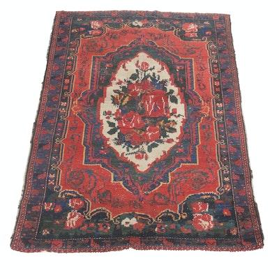 5'1 x 7' Hand-Knotted Persian Bakhtiari Rug, Circa 1910s