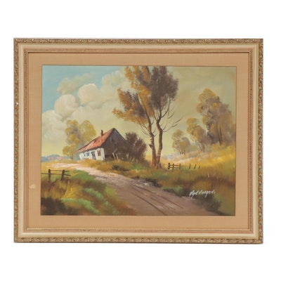 Van Vooren Rural Landscape Oil Painting