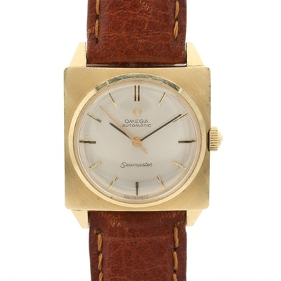 Vintage Omega Seamaster 14K Gold Automatic Wristwatch