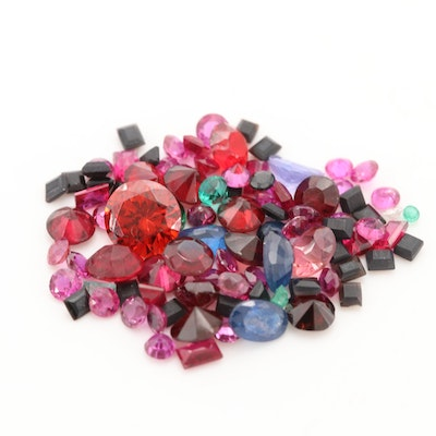 Loose 11.35 CTW Gemstone Assortment Including Rubies and Garnets