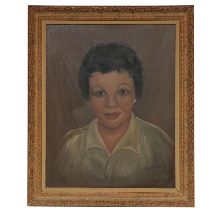 Bartlett Portrait of Woman Oil Painting