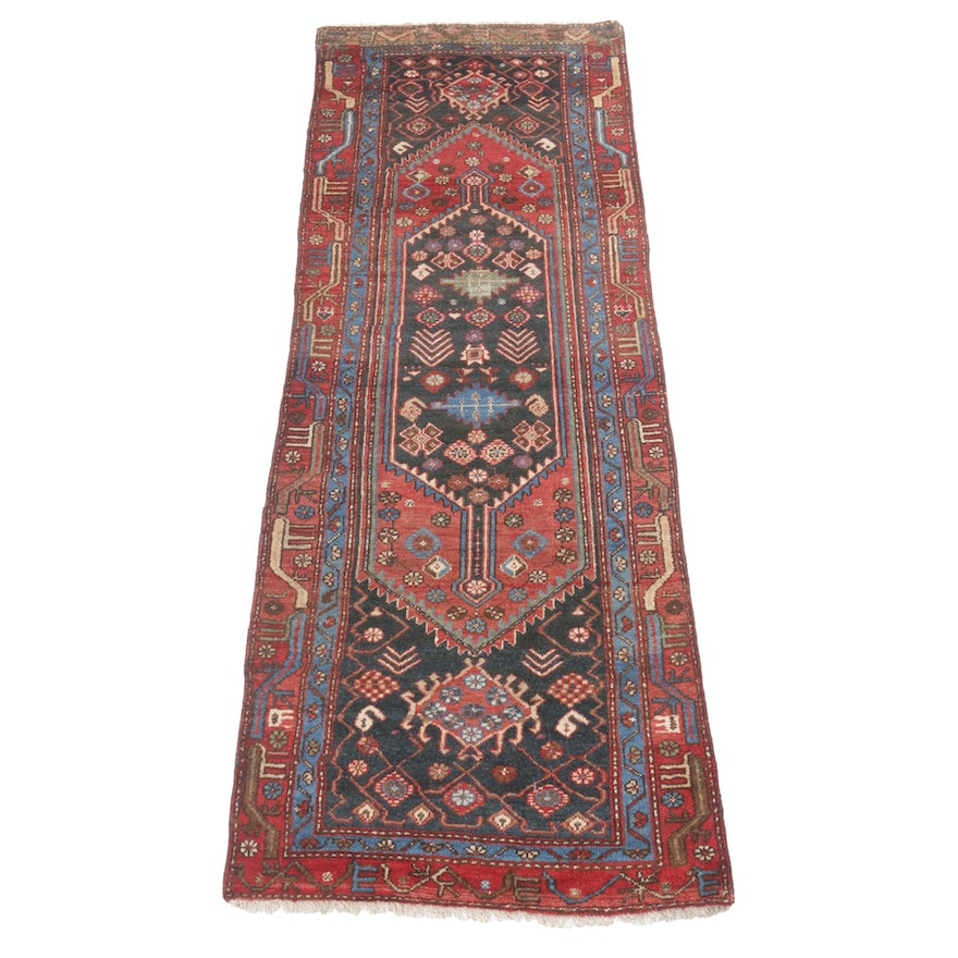 2'11 x 8'6 Hand-Knotted Antique Northwest Persian Carpet Runner, circa 1920s