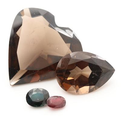 Loose 43.18 CTW Gemstone Assortment Including Smoky Quartz