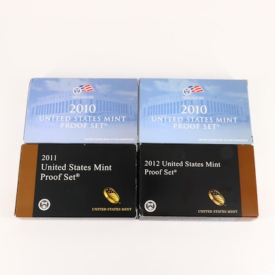 Four U.S. Mint Proof Sets, Including a 2012 Key Date Set