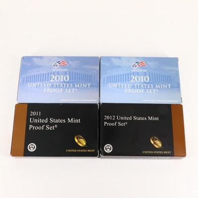 Four U.S. Mint Proof Sets, Including a 2012 Key Date Set
