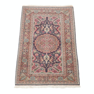 2'11 x 4'7 Hand-Knotted Turkish Kayseri Rug