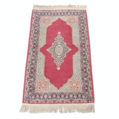 Power-Loomed Persian Kerman Rug