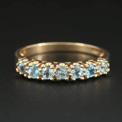 10K Yellow Gold Blue Topaz Ring