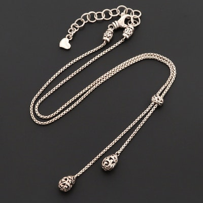 Charles Krypell Sterling Silver Lariat Necklace