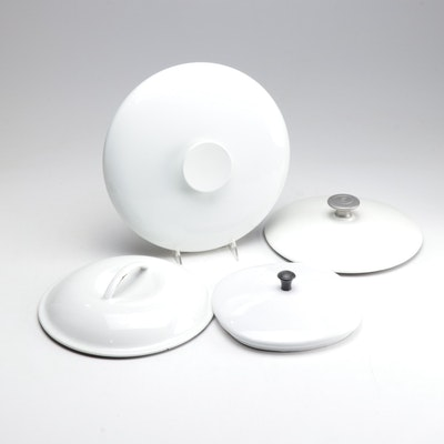 White Enamelled Pan Lids