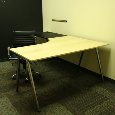 IKEA Galant Office Desk, Chair and File Cabinet, Contemporary