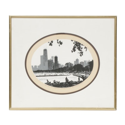"James H. Weinmeister Serigraph ""Beaches and Skyline - Chicago II"""