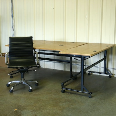 Adjustable Computer Desks and Office Chair