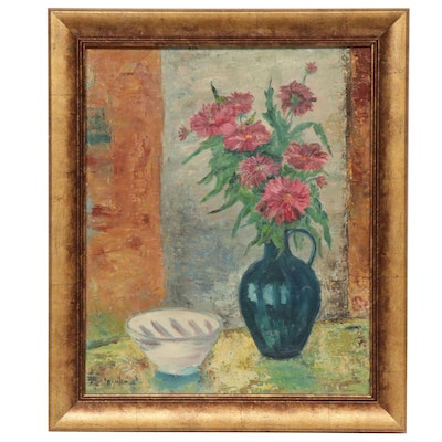 K. Branch Still Life Oil Painting