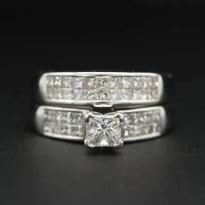 18K White Gold 1.54 CTW Diamond Ring