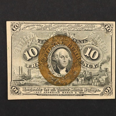 Second Issue Ten Cent Fractional Currency Note