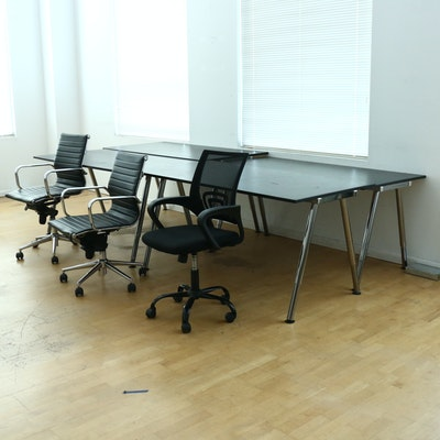 IKEA Galant Office Desks and Chairs, Contemporary