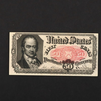 Fifth Issue Fifty Cent Fractional Currency Note with Bust of William H. Crawford