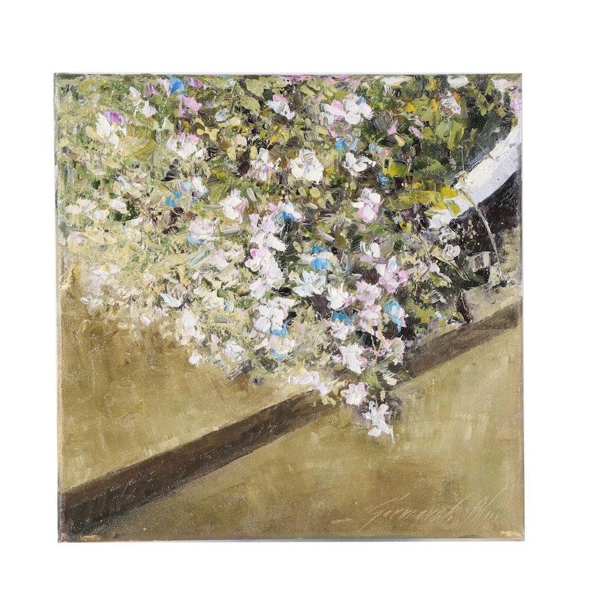 """Garncarek Aleksander Oil Painting """"On the Stairs"""""""